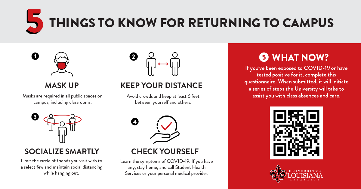 5 things to know before returning to campus